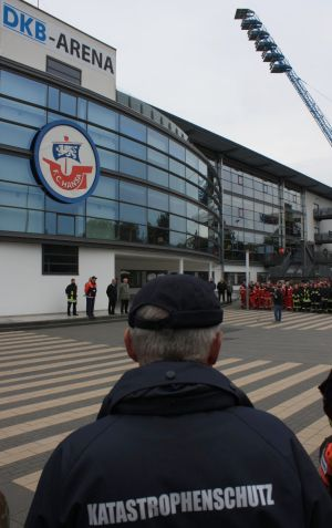 Katastrophenschutzübung 2009 im Ostseestadion Rostock